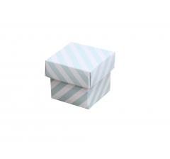 Коробка картонная сборная 35*35*35 голубая полоска
