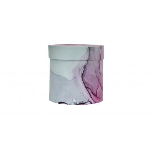 Коробка для цветов цилиндр, d-150, h-150, дизайн 86