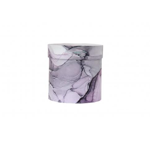 Коробка для цветов цилиндр, d-150, h-150, дизайн 87