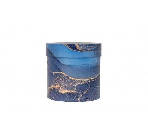 Коробка для цветов цилиндр, d-150, h-150, дизайн 89