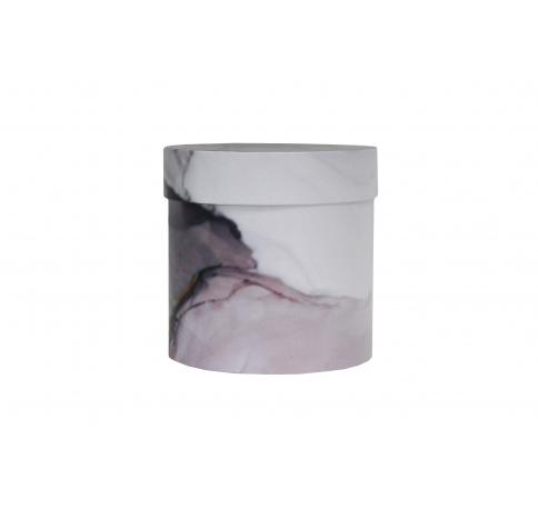 Коробка для цветов цилиндр, d-150, h-150, дизайн 93