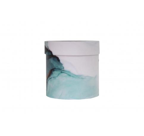 Коробка для цветов цилиндр, d-150, h-150, дизайн 95