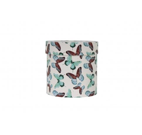 Коробка для цветов цилиндр, d-150, h-150, дизайн 97