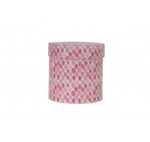 Коробка для цветов цилиндр, d-150, h-150, дизайн 99