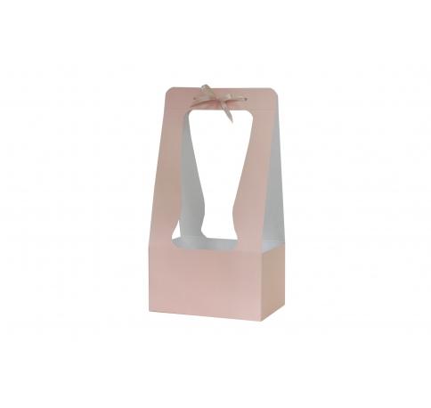 Сумка картонная 34*18*12 см, персиковая