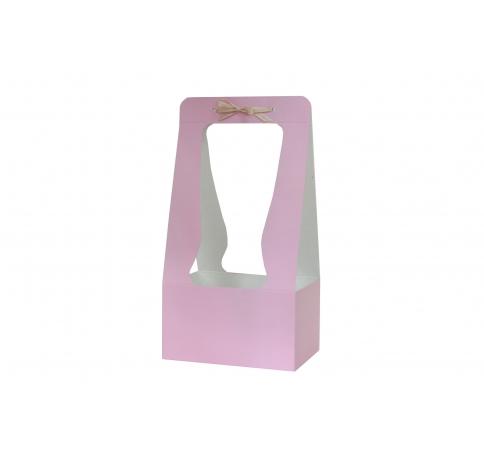 Сумка картонная 34*18*12 см, светло-лиловая