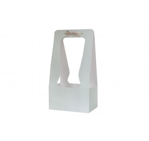 Сумка картонная 34*18*12 см, светло-серая
