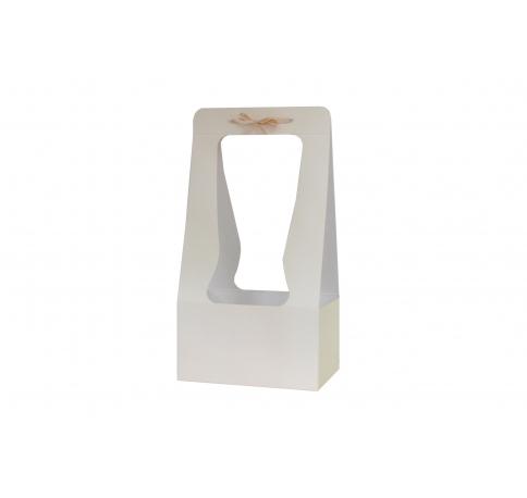 Сумка картонная 34*18*12 см, кремовая