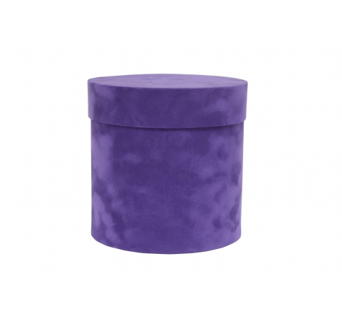 Коробка бархатная-люкс, d-110, h-120, темно-пурпурный