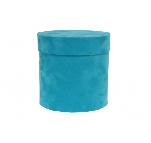 Коробка бархатная-люкс, d-110, h-120, голубо-бирюзовый