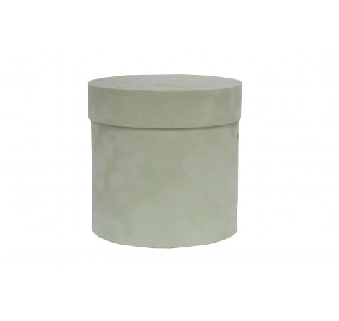 Коробка бархатная-люкс, d-110, h-120, фисташка