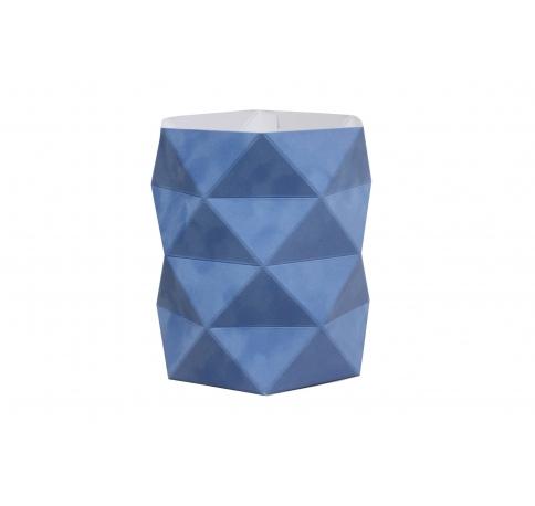 Коробка - ваза 17*20 см (бархат), небесно-голубая