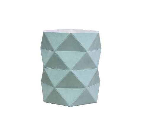 Коробка - ваза 17*20 см (бархат), мятная