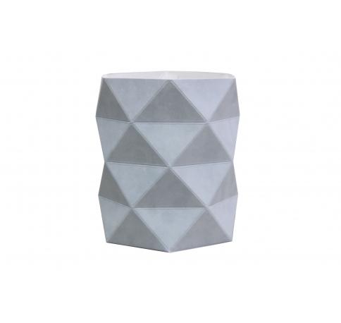 Коробка - ваза 17*20 см (бархат), голубая