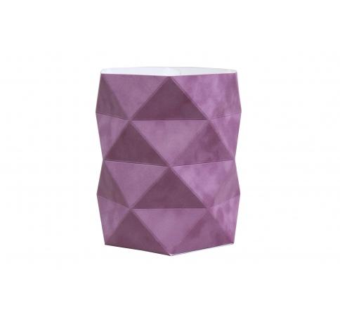 Коробка - ваза 17*20 см (бархат), лиловая