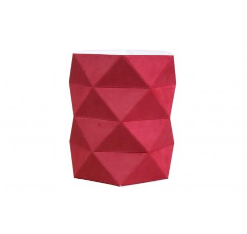 Коробка - ваза 17*20 см (бархат), алая