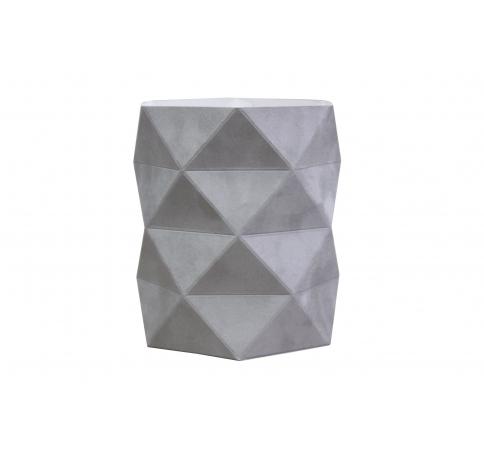 Коробка - ваза 17*20 см (бархат), серая