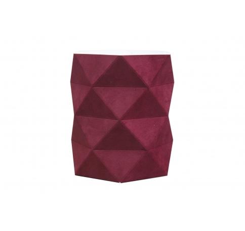 Коробка - ваза 17*20 см (бархат), бордовая