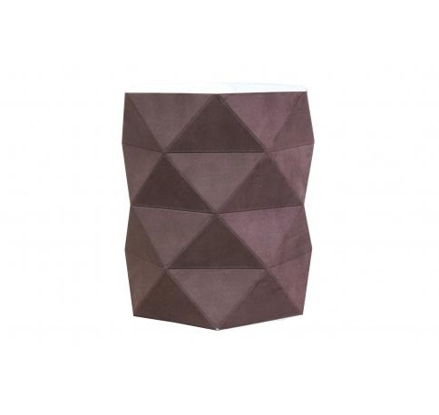 Коробка - ваза 17*20 см (бархат), темно-коричневая