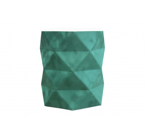 Коробка - ваза 17*20 см (бархат), темно-зеленая
