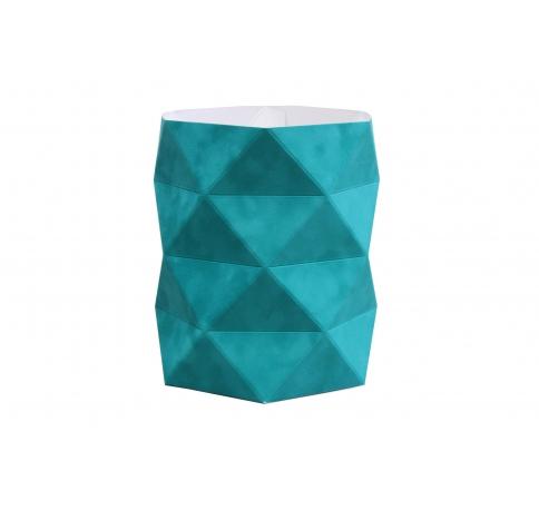 Коробка - ваза 17*20 см (бархат), бирюзовая