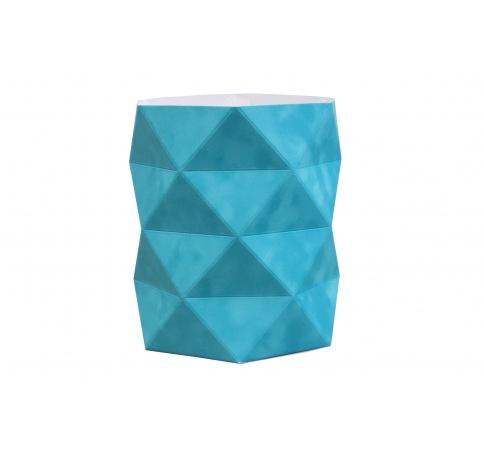 Коробка - ваза 17*20 см (бархат), голубо-бирюзовая