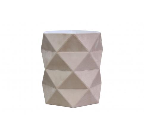 Коробка - ваза 17*20 см (бархат), бежевая