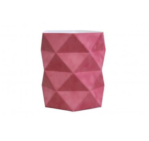 Коробка - ваза 17*20 см (бархат), коралловая