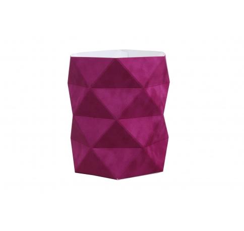 Коробка - ваза 17*20 см (бархат), фуксия