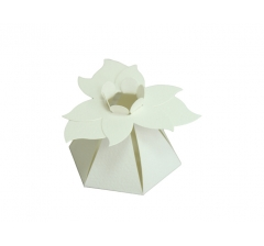 "Коробка ""Цветок"", кремовая"