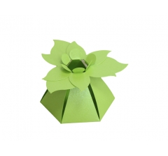 "Коробка ""Цветок"", салатовая"