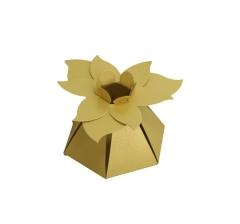 """Коробка """"Цветок"""", золотая"""