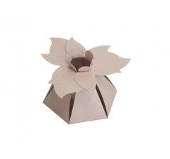 """Коробка """"Цветок"""", розовая"""
