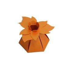 """Коробка """"Цветок"""", оранжевая"""