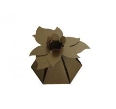 "Коробка ""Цветок"", коричневая"
