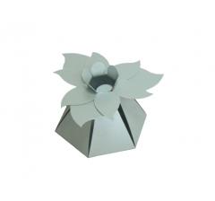 """Коробка """"Цветок"""", серебристая"""