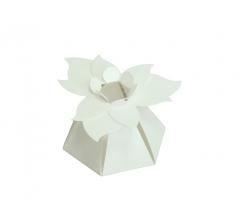 """Коробка """"Цветок"""", белая"""