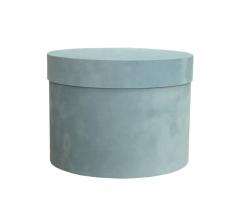 Коробка бархатная, d-150, h-105 мм, голубая