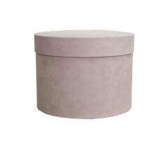 Коробка бархатная, d-200, h-150 мм, розовая