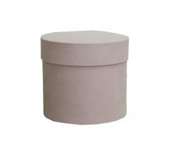 Коробка бархатная, d-110, h-120 мм, розовая