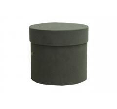 Коробка бархатная, d-110, h-120 мм, серая