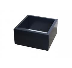 Коробка 230*230*100 мм с прозрачной крышкой, темно-синее дно