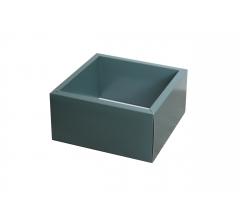 Коробка 230*230*100 мм с прозрачной крышкой, темно-зеленое дно
