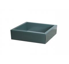 Коробка 225*225*55 мм с прозрачной крышкой, темно-зеленое дно