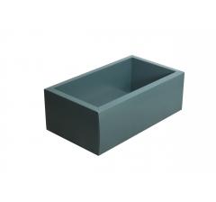 Коробка 310*180*80 мм с прозрачной крышкой, темно-зеленое дно