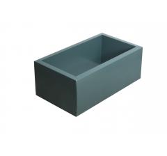 Коробка 320*180*110 мм с прозрачной крышкой, темно-зеленое дно