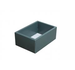 Коробка 200*140*80 мм с прозрачной крышкой, темно-зеленое дно