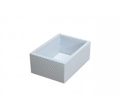 Коробка 200*140*80 мм с прозрачной крышкой, голубая полоска