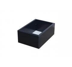 Коробка 200*140*80 мм с прозрачной крышкой, темно-синее дно