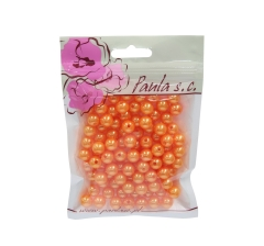 Бусины  апельсин перламутр 10 мм, 1 пакетик ( 50 г. )